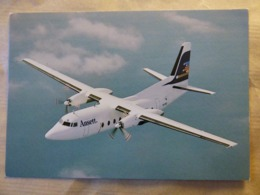 ANSETT   FOKKER 27-200     AIRLINE ISSUE / CARTE COMPAGNIE - 1946-....: Moderne