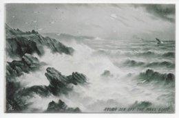 Rough Sea Off The Manx Coast - G.E. Newton - Tuck 1114 - Isle Of Man