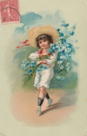 ***   Enfant Chargé De Fleurs Par Illustrateur - TTB - Portraits