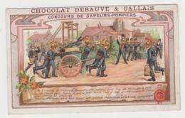 AB256 - CHROMO CHOCOLAT DEBAUVE & GALLAIS - Concours De Sapeurs Pompiers - Chocolat