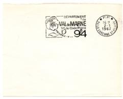VAL De MARNE - Dépt N° 94  LA VARENNE St HILAIRE 1967 = FLAMME PP Codée = SECAP  ' N° De CODE POSTAL / PENSEZ-Y ' - Postleitzahl