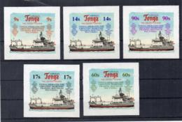 TONGA - 1974 - Flotta Marina - 5 Valori - Adesivi - Nuovi - Linguellati * - (FDC17646) - Tonga (1970-...)