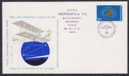Romania 1973 EXPO Aeromfila '73, Cover - Cartas