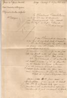 1919 LETTRE ET REPONSE / SOUS LIEUTENANT / CORPS OCCUPATION MADAGASCAR A COMMANDANT 7EME REGIMENT INFANTERIE B1079 - Documents
