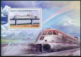 D - [32552]SUP//**/Mnh-c:17e-BL290 Yvert, L'Aérotrain, Chemins De Fer - Burundi