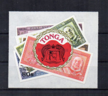 TONGA - 1974 - Banconote - Adesivo - Nuovo - Linguellato * - (FDC17649) - Tonga (1970-...)