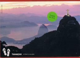 Publicité- Havaianas - Le Brésil à Vos Pieds - Cpsm- Recto Verso -Paypal Free - Werbepostkarten