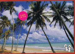 Publicité- Havaianas - Le Brésil à Vos Pieds Plage Palmiers - Cpsm- Recto Verso -Paypal Free - Werbepostkarten