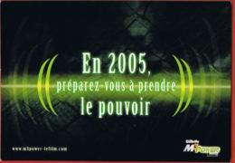 Publicité- Gilette M3 Power  - En 2005 Préparez-vous à Prendre Le Pouvoir-  Cpsm- Recto Verso -Paypal Free - Werbepostkarten