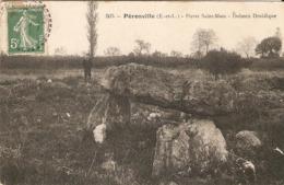 Cpa De L'Eure-et-Loir, Préonville (28), Pierre Saint-Marc, Dolmen Druidique, éd. ? N°505 écrite En 1909, Coiffeur - Andere Gemeenten