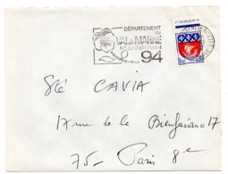 VAL De MARNE - Dépt N° 94 LE KREMLIN BICETRE 1967 = FLAMME Codée = SECAP  ' N° De CODE POSTAL / PENSEZ-Y ' - Zipcode