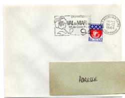 VAL De MARNE - Dépt N° 94  LE KREMLIN BICETRE  1966 = FLAMME Codée = SECAP  ' N° De CODE POSTAL / PENSEZ-Y ' - Postleitzahl