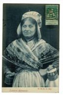 Laitière Flamande(bidon De Lait Et Tasse) Circulé 1914, Timbre Recollé Côté Vue - Métiers