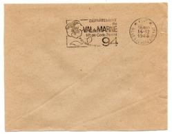 VAL De MARNE - Dépt N° 94  LE KREMLIN BICETRE  1966 = FLAMME PP Codée = SECAP  ' N° De CODE POSTAL / PENSEZ-Y ' - Postleitzahl