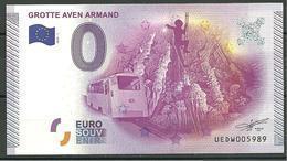 Billet Touristique 0 Euro 2015 Grotte Aven  ARMAND - EURO