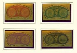 BAHAMAS  -  1968 Gold Coins Set Unmounted/Never Hinged Mint - Bahamas (...-1973)
