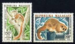 D - [201998]TB//**/Mnh-Madagascar 1973, Timbre Aérien, Lémuriens, Animaux, Singes, SC, **/mnh - Madagascar (1960-...)