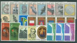 San Marino 1974 Annata Completa/Complete Year MNH/** - San Marino