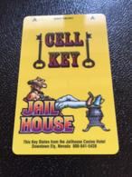 Hotelkarte Room Key Keycard Clef De Hotel Tarjeta Hotel  JAIL HOUSE ELY - Telefonkarten