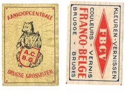Brugge: Aankoop Centrale Brugse Grossisten + Franco-Belge - Scatole Di Fiammiferi - Etichette