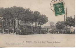 77 MELUN Place De La Gare  - Tramway De Barbizon - Estaciones Con Trenes