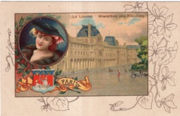 CHICOREE A LA MENAGERE PAPIER GRAINS DE CAFE LE LOUVRE MINISTERE DES FINANCES PARIS - Werbepostkarten