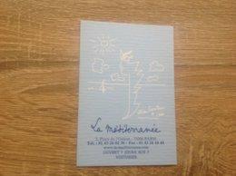 Carte De Visite De Restaurant  Le Mediterranée   Paris  6eme - Cartes De Visite