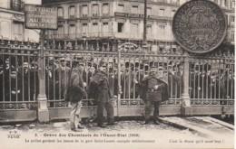 Grève Des Cheminots De L'Ouest-Etat 1910 La Police Gardant Les Issues De La Gare St-Lazarre - Sindacati