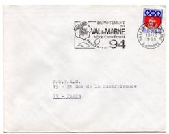 VAL De MARNE - Dépt N° 94 LE PERREUX Sur MARNE 1968 = FLAMME Codée = SECAP  ' N° De CODE POSTAL / PENSEZ-Y ' - Zipcode