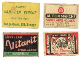 Brugge: Diverse - Scatole Di Fiammiferi - Etichette