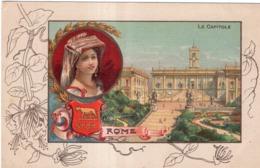 CHICOREE A LA MENAGERE PAPIER GRAINS DE CAFE LE CAPITOLE ROME - Werbepostkarten