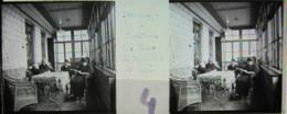 GORNESTI, Mures, Transylvania : Hôtel, Vestibule. Vers 1900. Plaque Verre Stéréoscopique, Positif. Transylvanie - Glasdias