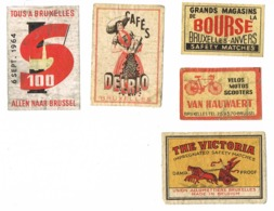 Brussel - Bruxelles: Diverse - Boites D'allumettes - Etiquettes