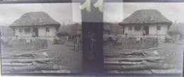 GORNESTI, Mures, Transylvania :  Une Maison.  Vers 1900. Plaque Verre Stéréoscopique, Négatif. Transylvanie - Glasdias