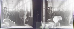 GORNESTI, Mures, Transylvania :  Vestibule De L'Hôtel.  Vers 1900. Plaque Verre Stéréoscopique, Négatif. Transylvanie - Glasdias