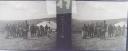 GORNESTI, Mures, Transylvania :  Habitants Du Village.  Vers 1900. Plaque Verre Stéréoscopique, Négatif. Transylvanie - Glasdias