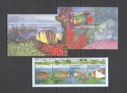 X1218 GAMBIA FAUNA FISH & MARINE LIFE !!! 2BL+1SET MNH - Meereswelt