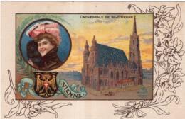 CHICOREE A LA MENAGERE PAPIER GRAINS DE CAFE LE CAPITOLE CATHEDRALE DE SAINT-ETIENNE VIENNE - Werbepostkarten