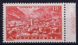Andorre Mi 133 Postfrisch/neuf Sans Charniere /MNH/**  Hinge On Tab 1951 - Französisch Andorra