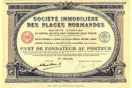Société Immobilière Des Plages Normandes, Part - Tourism