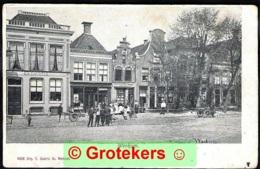 WORKUM Ca 1900 Zeer Levendig Met Huize HARMONIE En Een Drukkerij - Workum