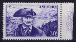 Andorre Mi 138 Postfrisch/neuf Sans Charniere /MNH/**  Hinge On Tab - Französisch Andorra