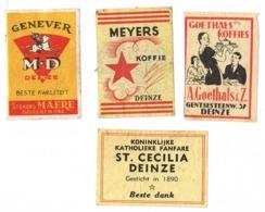 Deinze: Meyers Koffie / Goethals Koffies / Genever MD / Fanfare St.Cecilia - Scatole Di Fiammiferi - Etichette