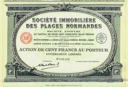 Société Immobilière Des Plages Normandes, Action - Tourism