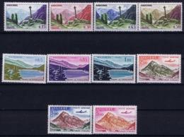 Andorre Mi 168 - 177 Postfrisch/neuf Sans Charniere /MNH/** 1961 - Französisch Andorra