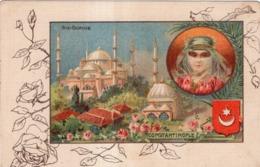 CHICOREE A LA MENAGERE PAPIER GRAINS DE CAFE  SAINTE-SOPHIE CONSTANTINOPLE - Werbepostkarten