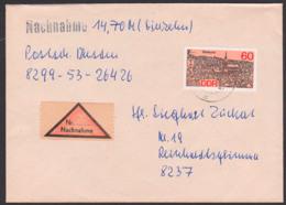 Stralsund 60 Pf DDR 3164 Auf Nachnahme Nach Reinhardtsgrimma - [6] República Democrática