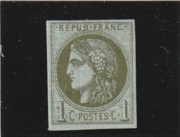 France N°39B Avec Charniéré  Fraicheur *postale Signe Brun - 1870 Emissione Di Bordeaux