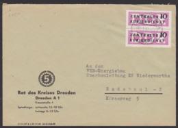 Germany DRESDEN Rat Des Kreises Behörde 5-Jahrplan-Logo, DDR ZKD B6(2), 10 Pf. Senkr. Paar - [6] Democratic Republic