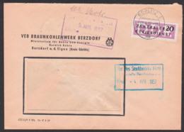 Berzdorf A.d. Eigen, DDR ZKD B7, Nach Berlin O17, Berolinahaus, Rat Des Stadtbezirks Mitte, Braunkohlenwerk Ministerium - DDR